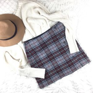 🍁☕️Tommy Hilfiger Plaid Wrap Mini Skirt